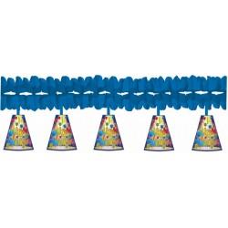 Festone Blu C/pendente Tanti Auguri