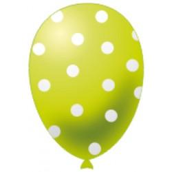 Palloncini Pois Verde Lime Pz.20
