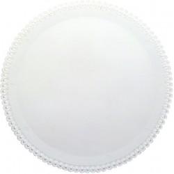 2 Sottotorta Crystal Tondi 34cm Bianco