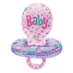 Palloncino Mylar Baby Ciuccio Girl