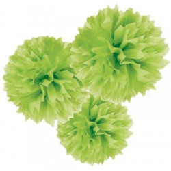 Set 3 Fluffy Carta 4'+9'+16' Verde Lime