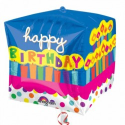 Palloncino Mylar Torta Happy Birthday
