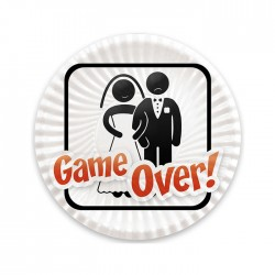 Piatti Game Over 8pz. Cm.18
