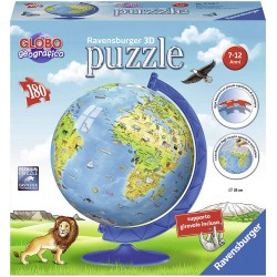 ravensburger italy- puzzle 3d globo geografico, 12340 7