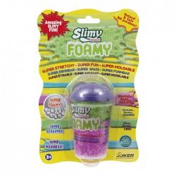 SLIMY SWISS - Foamy Barattolo da 55gr di slime colorato, con effetto schiuma.