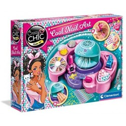 Clementoni- Crazy Chic-Cool Nails-Atelier smalti-Set per Unghie Bambina 6 Anni, 18599