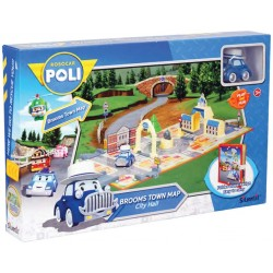 Rocco Giocattoli - Robocar Poli Brooms Town Map City Hall